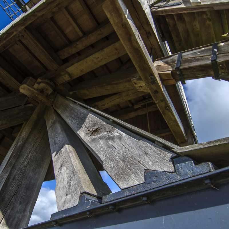 Gebinte van de molen<br>02-07-2020 - ©Patrick Goossens