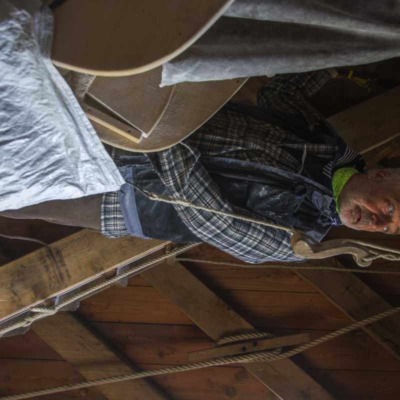 Molenaar Peter Vandenbrande aan het malen<br>25-10-2020 - ©Patrick Goossens