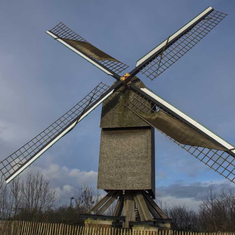 Draaiende molen in de winter<br>20-12-2020 - ©Patrick Goossens