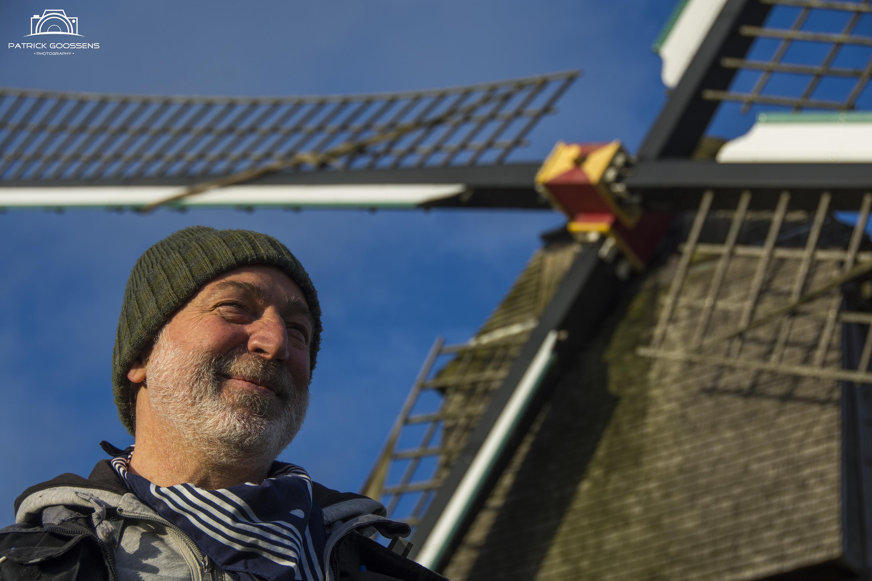 Molenaar Peter Vandenbrande aan de Buysesmolen - ©Molensherzele.be
